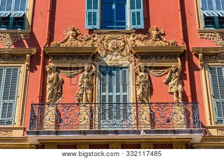 Nice Cote D Azur. France. June 20 2019. A View Of Local Colourful Architecture In Nice In Cote D Azu