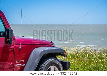 The Famous Off-road Jeep Vehicle In Aransas Nwr, Texas