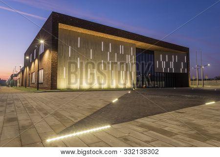 Szczecin, Poland-november 2019: A Newly Built Municipal Culture Center In Szczecin As An Example Of