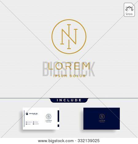 Letter N Ni In Monogram Logo Design Minimal Icon