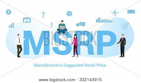 Msrp Manufacturers Suggested Retail Price Concept With Big Word Or Text And Team People With Modern
