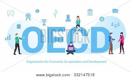 Oecd Organisation Of Economic Co-operation And Development Concept With Big Word Or Text And Team Pe