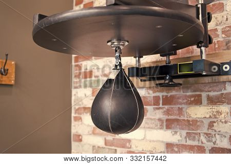 Boxing Bag. Gym Workout And Training. Boxing School. Practicing A Blow. Knockout And Energy. Retro B