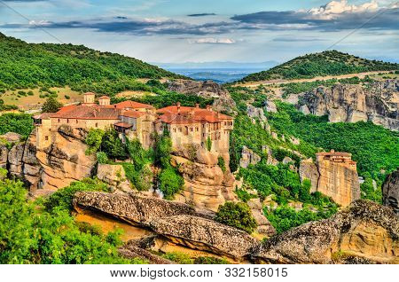 The Holy Monasteries Of Varlaam And Saint Nicholas Anapafsas At Meteora - Thessaly, Greece