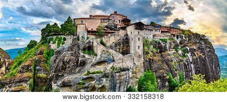 The Holy Monastery Of The Transfiguration Of Jesus At Meteora In Thessaly, Greece