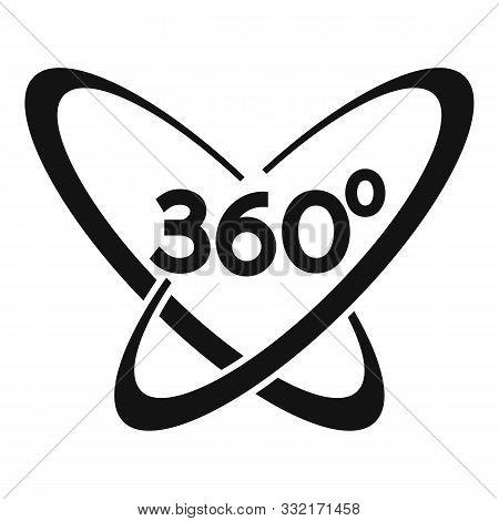 Vr Helmet 360 Degrees Icon. Simple Illustration Of Vr Helmet 360 Degrees Vector Icon For Web Design