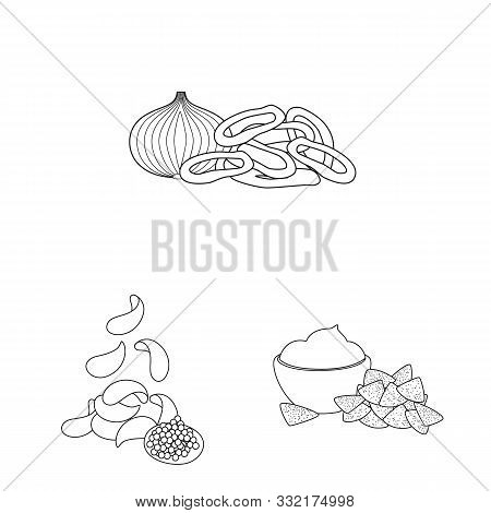 Vector Design Of Taste And Crunchy Symbol. Collection Of Taste And Cooking Stock Symbol For Web.