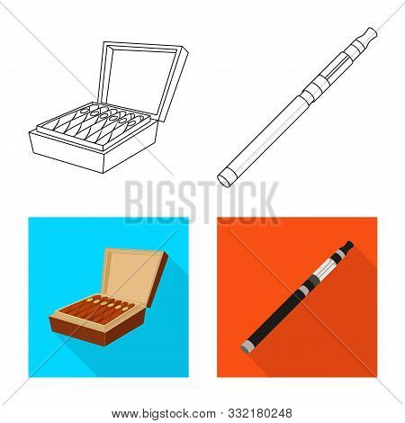 Isolated Object Of Refuse And Stop Icon. Collection Of Refuse And Habit Stock Vector Illustration.