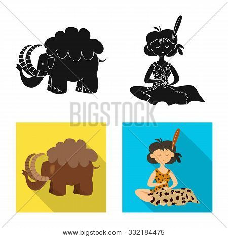 Vector Design Of Evolution And Prehistory Icon. Collection Of Evolution And Development Stock Vector