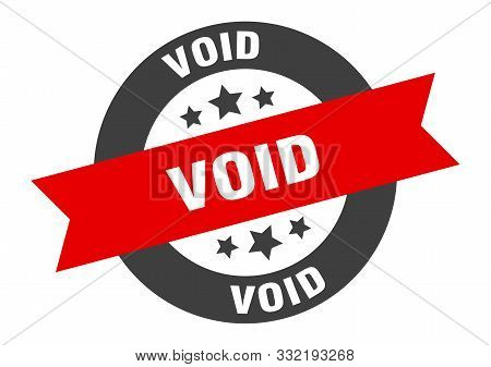 Void Sign. Void Black-red Round Ribbon Sticker