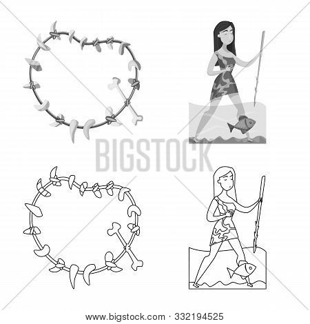 Isolated Object Of Evolution And Prehistory Sign. Collection Of Evolution And Development Vector Ico