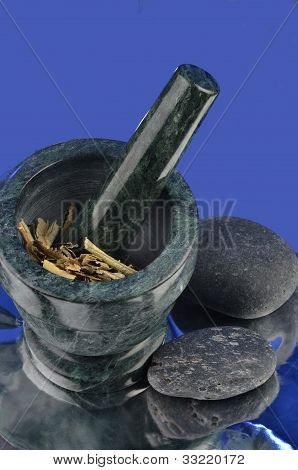 Herbs in a Mortar