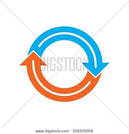 Circle Arrow. Reload Arrow Icon Isolated. Color Refresh Vector Arrow. Circle Arrow For Infographic