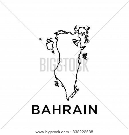 Bahrain Map Vector Design Template Icon Trendy
