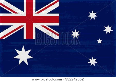Australian National Flag Isolated Vector Illustration. Travel Map Design Element. Australian Flag Ic