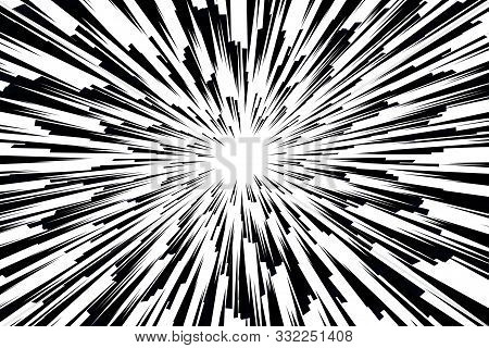 Hyper Speed. Vector Design. Abstract Modern Background. Warp Drive. Futuristic Space Tunnel For Trav
