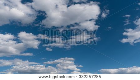 Time Lapse Of Flying Clouds Nature Background No Birds, No Flicker