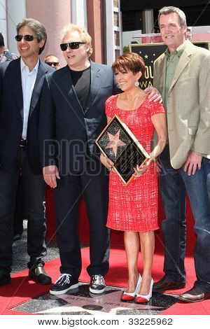 LOS ANGELES - MAY 22: Ray Romano, David Hunt, Patricia Heaton, Neil Flynn at a ceremony honoring Patricia Heaton with a Star on The Hollywood Walk of Fame on May 22, 2012 in Los Angeles, California