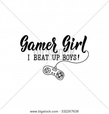 Gamer Girl Beat Boys Vector Photo Free Trial Bigstock