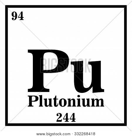 Plutonium Periodic Table Of The Elements Vector Illustration Eps 10.