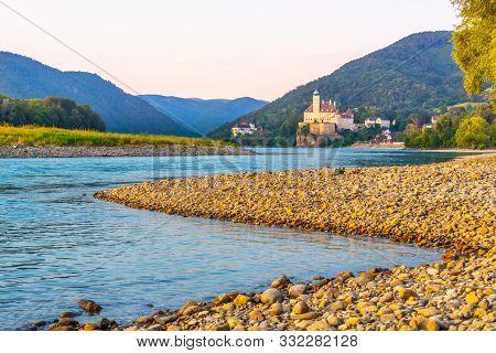 Schonbuhel Castle And Danube River In Wachau Valley, Austria