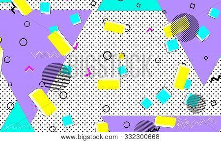 Retro Background. Lilac Childish Cover. Animation Fashion. Lemon Artwork. Liquid Texture. Purple 90s