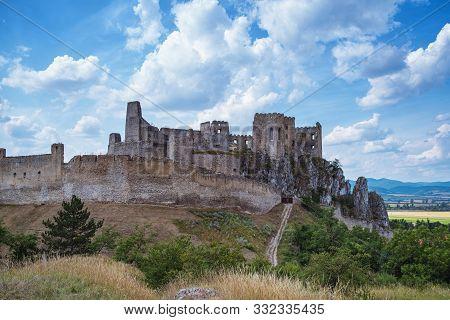 Backov Castle, Village Beckov Near Nove Mesto Nad Vahom, Slovakia