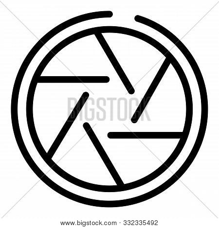 Editor Shutter Icon. Outline Editor Shutter Vector Icon For Web Design Isolated On White Background