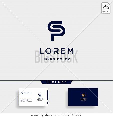 Letter Sp Ps S P Logo Design Simple Vector