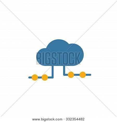 Cloud Hosting Icon. Flat Creative Element From Big Data Icons Collection. Colored Cloud Hosting Icon