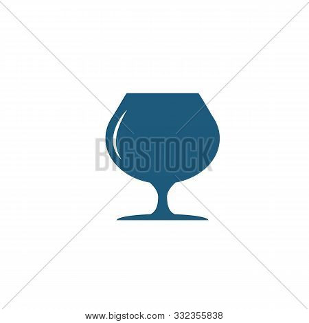Cognac Glass Icon. Flat Creative Element From Bar And Restaurant Icons Collection. Colored Cognac Gl
