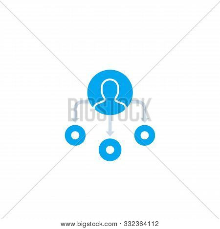 Delegation Or Team Management Icon, Eps 10 File, Easy To Edit