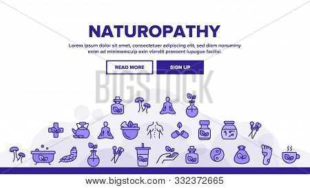 Naturopathy Therapy Vector Thin Line Icons Set. Naturopathy, Homeopathic Medication Linear Pictogram