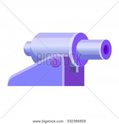 Cannon Weapon Military Artillery Vector Symbol Icon. Cartoon Style Vector Isolated