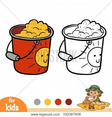 Coloring Book For Children, Pail With Sand