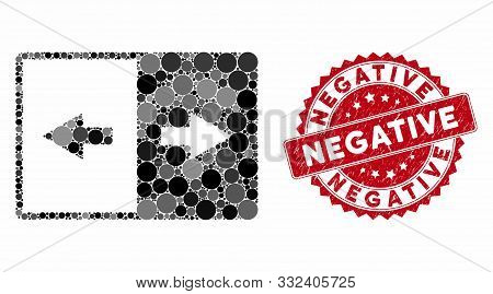 Mosaic Invert And Rubber Stamp Seal With Negative Caption. Mosaic Vector Is Created From Invert Icon