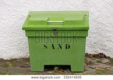 Big Green Sand Box For Winter Grit