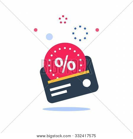 Cash Back Program, Loyalty Card, Discount Coupon, Earn Points For Purchase, Save Money, Collect Bonu