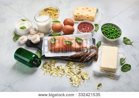 Foods rich in vitamin D for healthy bones, healthy infants and pregnancy. For Cancer, flu and diabet