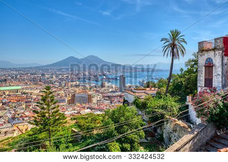 View Of Naples In Italy From The Vomero Hill