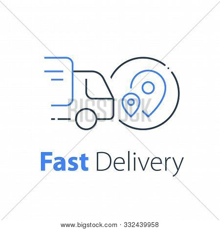 Truck Delivery, Transportation Company, Distribution Service, Logistics Solution, Load Shipping, Ord