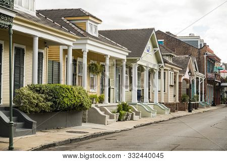 Architecture Of The French Quarter In New Orleans