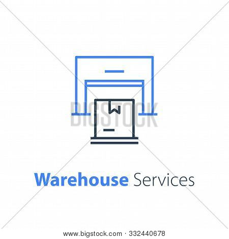 Warehouse Services, Distribution Center, Wholesale Concept, Supply Chain, Cargo Transportation, Vect