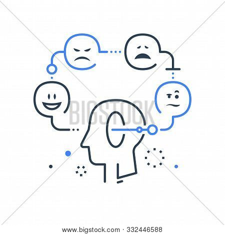 Mood Swing, Bipolar Disorder, Manic Depression, Cognitive Psychology Or Psychiatry Concept, Positive