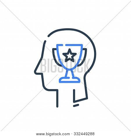 Human Head Profile And Cup, Motivation Concept, Leadership Training Course, Employee Of The Month, W