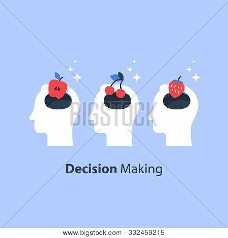 Decision Making, Psychology Of Choice, Focus Group, Marketing Concept, Mindset Or Bias, Manipulation