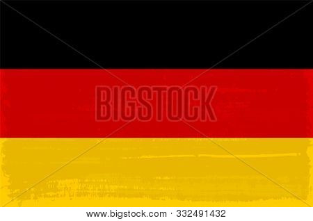 German National Flag Isolated Vector Illustration. Travel Map Design Graphic Element. World County S