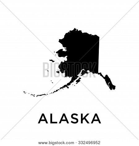 Alaska Map Vector Design Template Icon Trendy