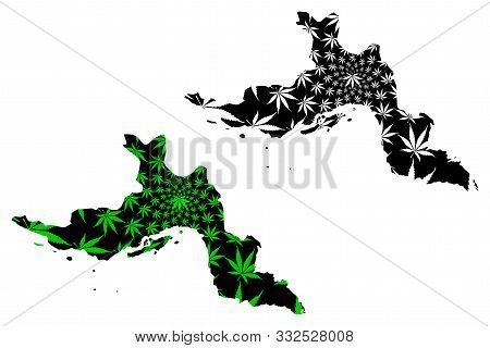 Hormozgan Province (provinces Of Iran, Islamic Republic Of Iran, Persia) Map Is Designed Cannabis Le