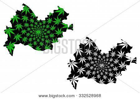 Kermanshah Province (provinces Of Iran, Islamic Republic Of Iran, Persia) Map Is Designed Cannabis L